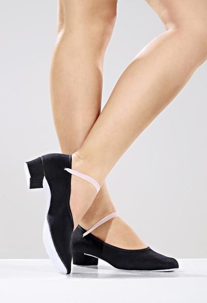 Imagem de S88 - Sapato em Lona para exame do Royal com elástico- Só Dança