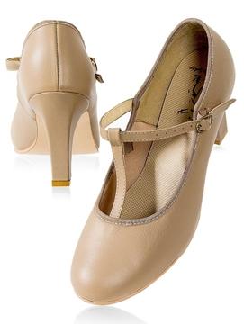 Imagen de CJ04 - Sapato salto 7,5cm com correia e fivela - Capezio