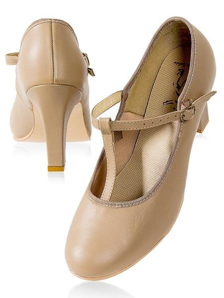 Imagem de CJ04 - Sapato salto 7,5cm com correia e fivela - Capezio