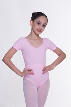 Imagem de Pronta entrega - Kit Ballet Manga Curta - 5 Peças Rosa/Preto - Infantil e Adulto
