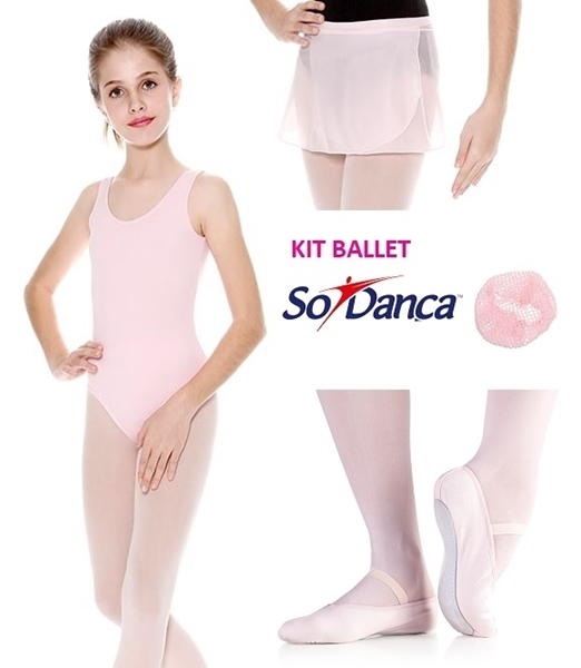 d1fedb2891 Império da dança. Kit Ballet Adulto - Collant regata