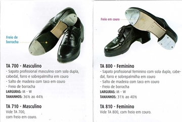 Imagem de TA710 - Sapato Masculino Profissional freio de couro  - Só Dança