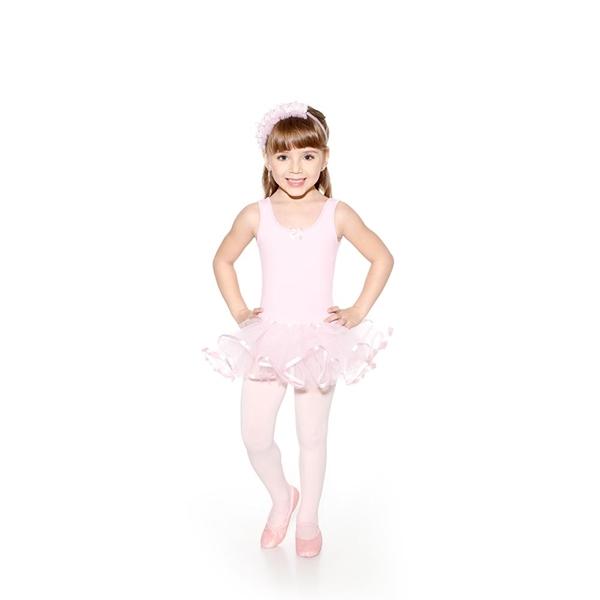 Imagem de SD1352 - Collant Regata com Saia TouTou Infantil  - Só Dança