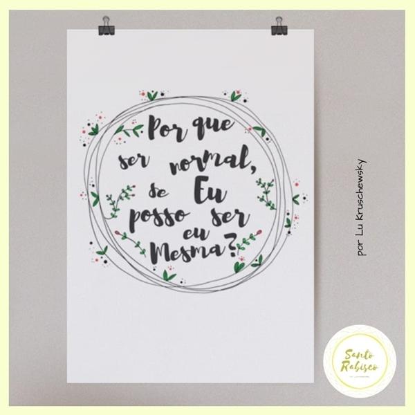 Imagem de Poster - Eu mesma - Santo Rabisco